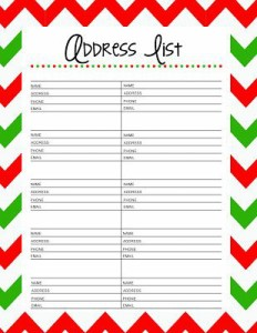 Address list - How to organize a holiday mailing list