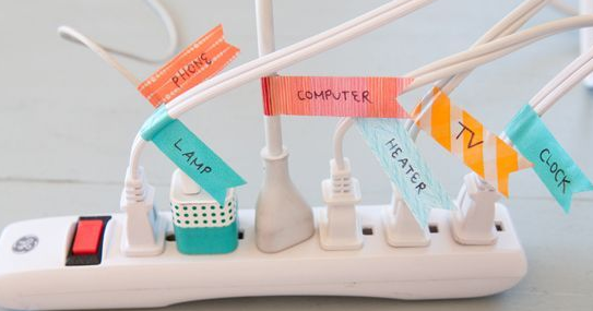 College Student Organization Solution: organize cords!