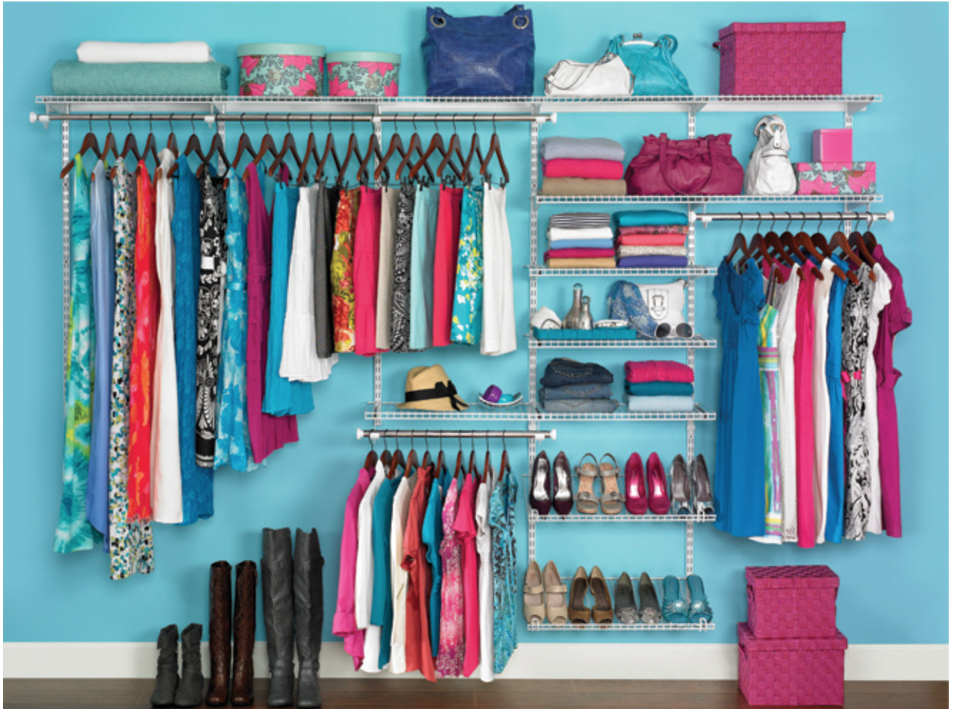 Organized Closet - Kon Mari Method