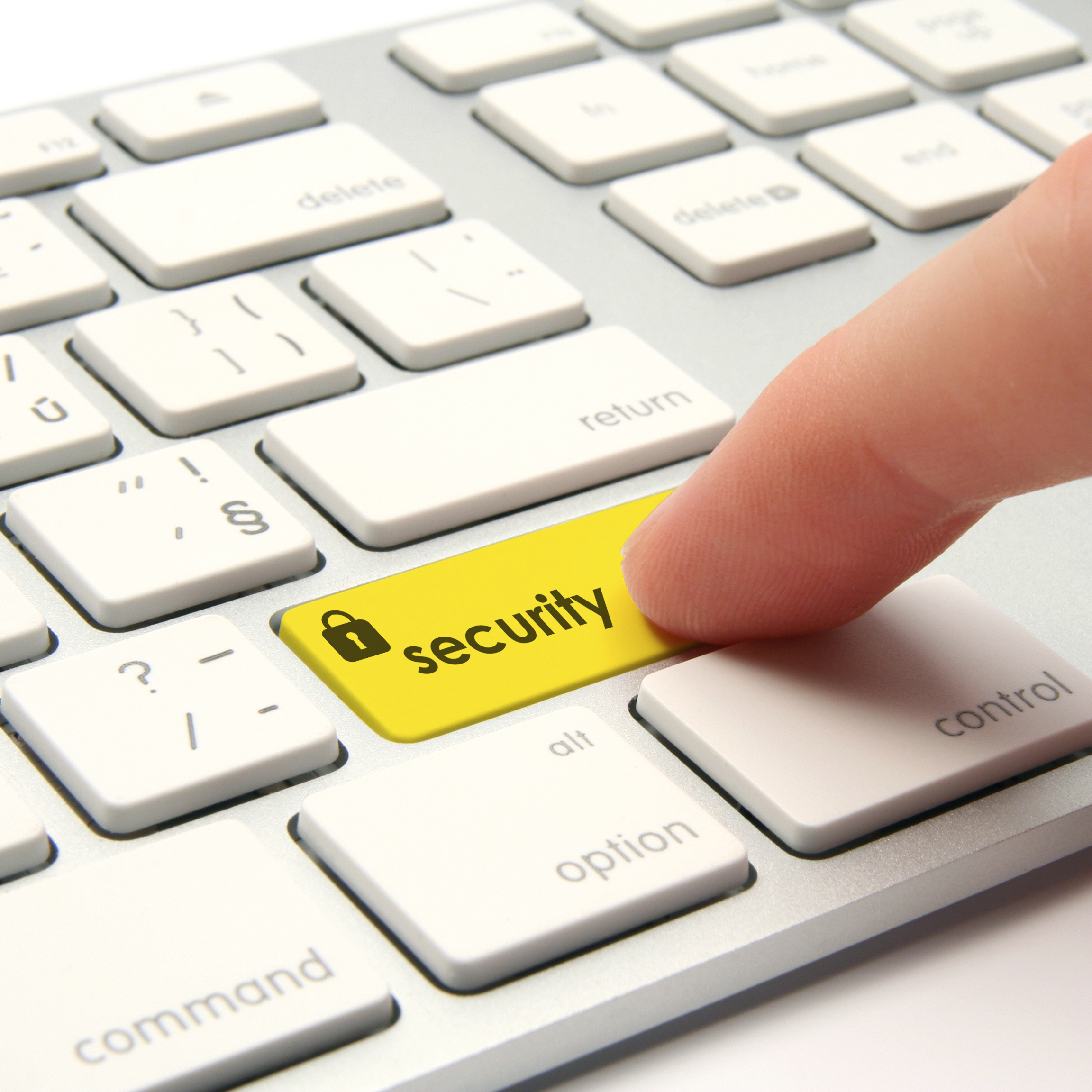 Keyboard with security key