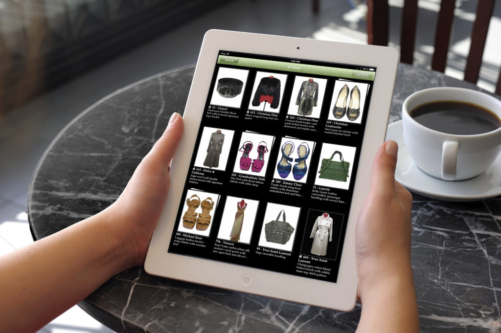 Cyber Closet makes it easy to track your wardrobe, in house and in couture storage.