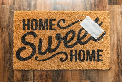 Home Sweet Home Doormat with Mask-How to Make Space for Positive Change in Your Life-In Order to Succeed